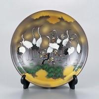 九谷焼 飾皿 10号 群鶴 AP2-1504