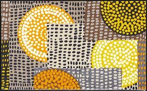 C023B wash+dry(ウォッシュアンドドライ)マット Ethno Pop orange(エスノポップオレンジ) 75×120cm