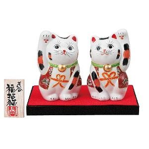 K5-1547 九谷焼 3.5号ペア招き猫 盛