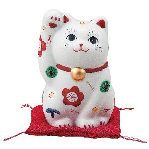 K5-1551 九谷焼 3.5号招き猫 松竹梅