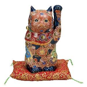 K5-1597 九谷焼 8号招き猫 盛