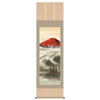 【送料無料】 宇田川彩悠(尺五) 「赤富士飛翔」 13425