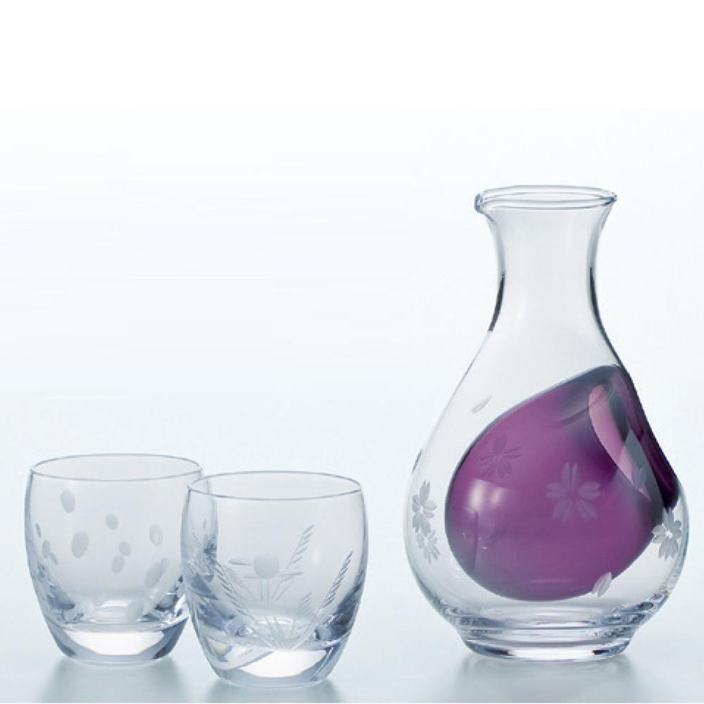 冷酒セット 雪月花(徳利290cc×1・冷酒グラス100cc×2) G604-M51 5136