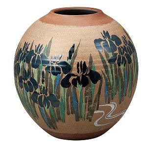 K5-1338 九谷焼 9.5号花瓶 燕子花