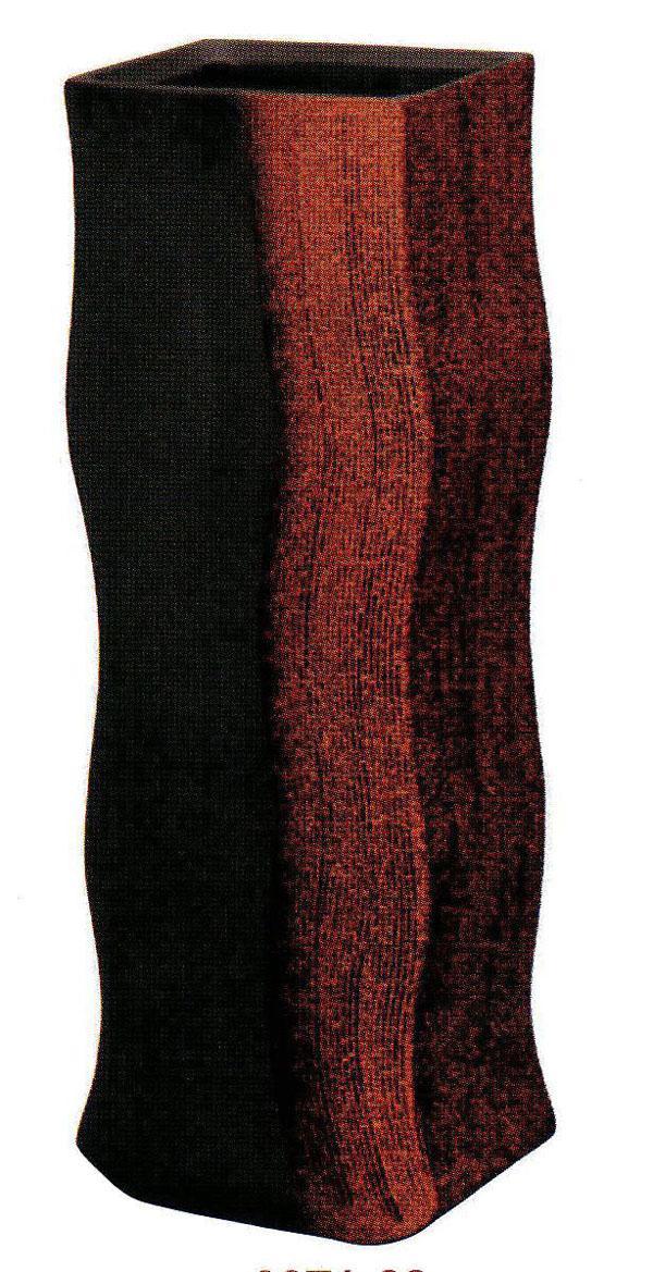 長角筒花器 (SS-P6071-03)赤サメ肌