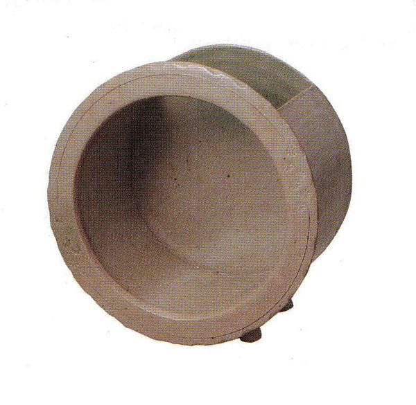 陶水槽丸 中 (SS-P6100-03)白