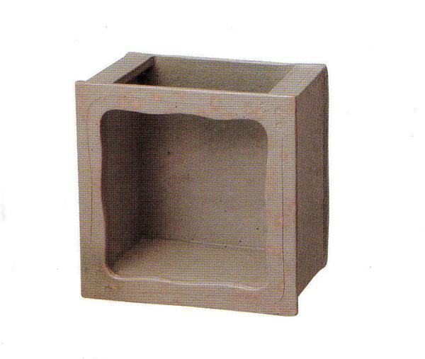 陶水槽正角 (SS-P6100-06)白