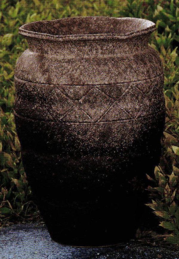 織部流し壷型花瓶 16号 (SS-P6019-04)古窯変