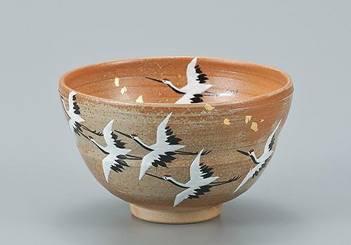 AP2-0606 九谷焼 抹茶碗 飛翔