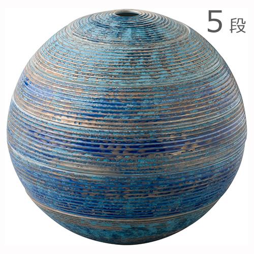 有田焼 李荘窯 珠型五段重 ルリ千段銀彩