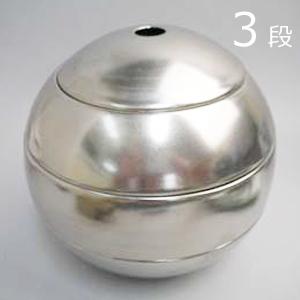 【化粧箱付】有田焼 李荘窯 珠型三段重 新黒銀彩(白金)