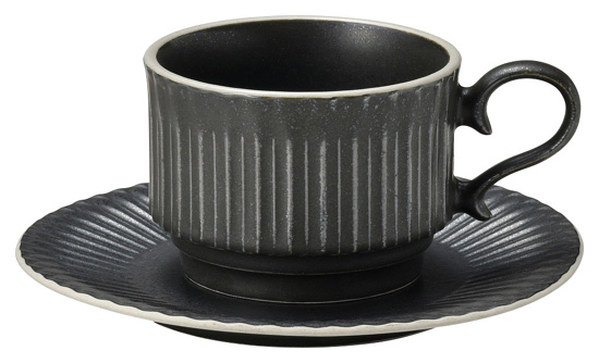 ネオクラシックなアースカラー 業務用食器 ストーリア 1着でも送料無料 クリスタルブラック 16cm受皿 ホテル カフェ レストラン 在庫処分