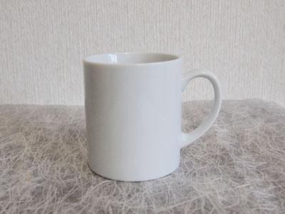 通常便なら送料無料 エントツのようにストレートなシンプルマグ 白い食器 白 マグカップ 陶器 ストレートマグL 安全