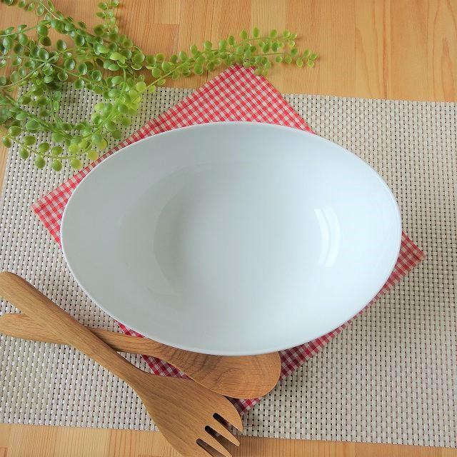 白磁24cmパーティーボウル器カフェおしゃれオシャレレストラン食洗機対応キッチン用品食器業務用洋食器ボウルホームパーティービュッフェポーセラーツ白い食器おしゃれオシャレ真っ白無地カフェレストラン