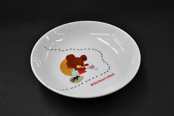 """日本製 こども食器 軽量食器""""軽くて持ちやすい 新着セール くまのがっこう軽小皿 ハッピー 初回限定 """""""