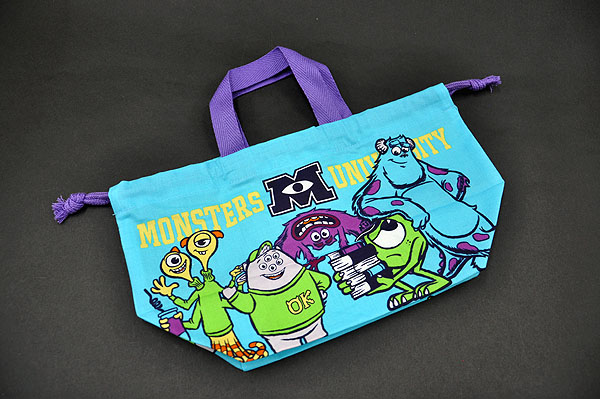 Monsters Inc Ink University With The Disney Pixar Lunch Drawstring Purse Bag Handle