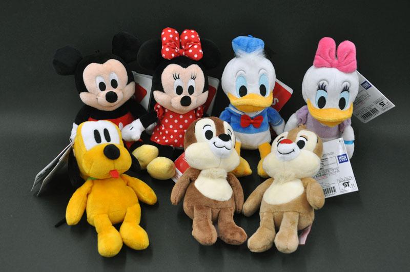 ディズニー(Disney)ビーンズコレクション/スタンダードキャラクターセット(7P)ぬいぐるみ [リニューアル/2018][ミッキーマウス][ミニーマウス][ドナルドダック][デイジーダック][プルート][チップ][デール]
