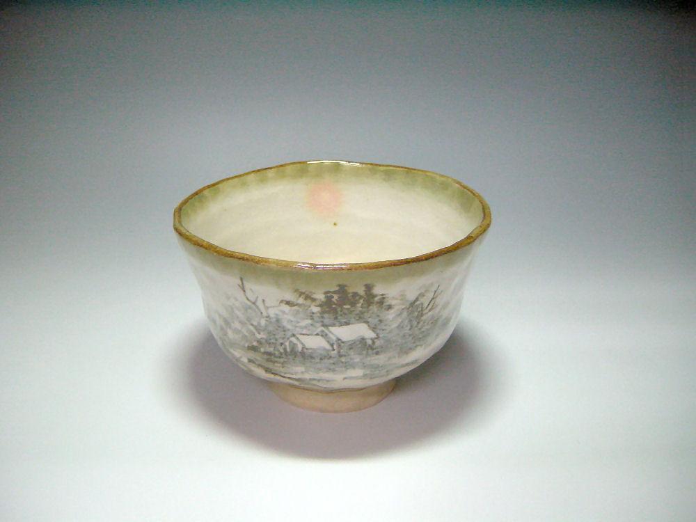 京焼・清水焼山水 抹茶碗