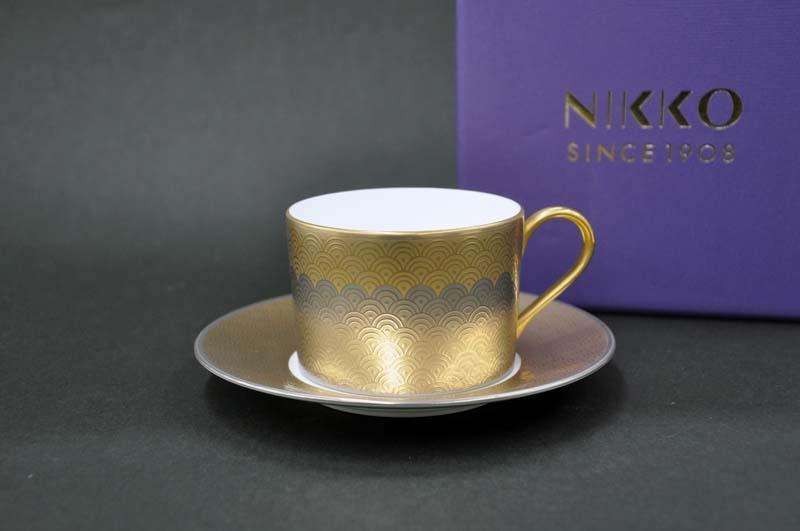 [NIKKO(ニッコー)]FORTUNE(フォーチュン)カップ&ソーサー[碗皿](270cc)FINE BONE CHINA(ファインボーンチャイナ)NIKKO SINCE1908