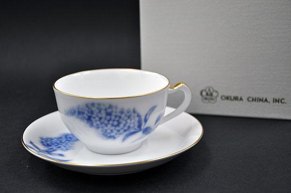 大倉陶園 ハイドランジャーカップ&ソーサー (1客/碗皿)【送料無料】