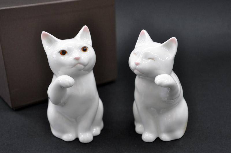 ノリタケ ~Noritake~置物「招き猫」小 (ペアセット)FORTUNE CAT