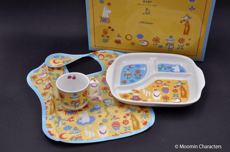 ムーミンの子供食器☆ 贈り物 MOOMIN ムーミン BABY ムーミンベビー 国内正規品 Noritake 子供セットBノリタケ