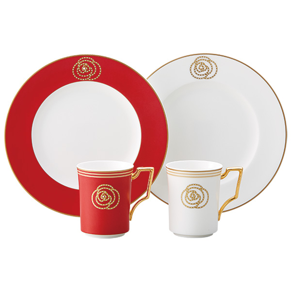 ノリタケ ~Noritake~エイダンゴールド(AIDAN GOLD) ティー・コーヒー碗皿モーニングペア(色変り)