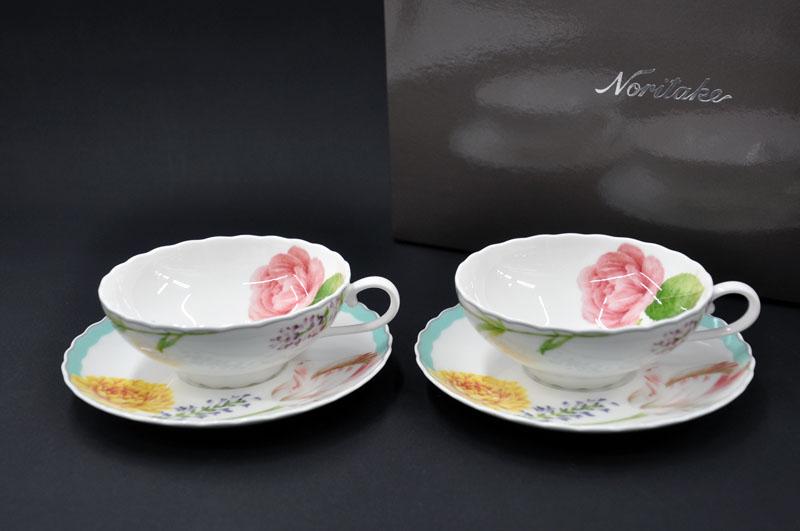 Pattern No.4960 お気に入りの花たち ノリタケ ~Noritake~ココ COCO 贈答 高価値 フルール ティー碗皿ペアセット FLEUR 2P