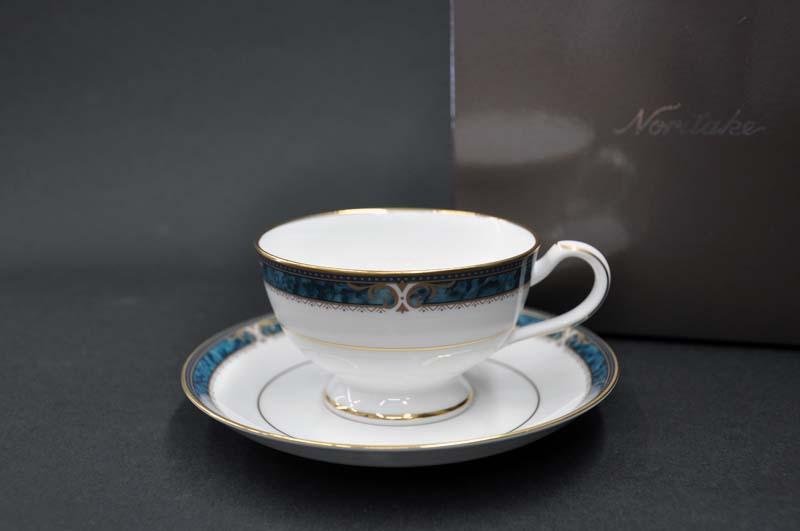 ノリタケ ~Noritake~ ティー・コーヒー碗皿(190cc)(1客)カップ&ソーサーエセックスコート(ESSEX COURT)