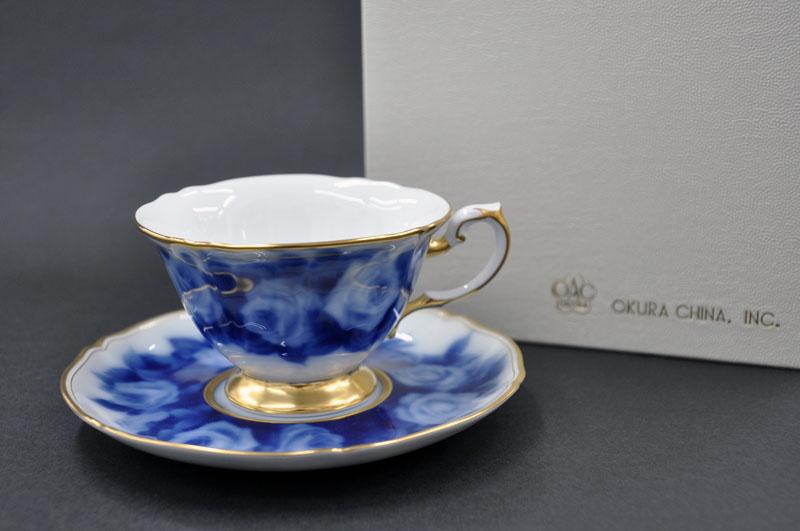 大倉陶園 ティー・コーヒー碗皿 ローズカップコレクション[ラ・フランス] (1客/碗皿)[カップ&ソーサー]
