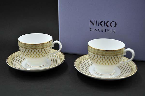 [NIKKO(ニッコー)] Granada(グラナダ)カップ&ソーサー(ペアセット) [240cc]【ゴールド(gold)】FINE BONE CHINA (ファインボーンチャイナ)NIKKO SINCE1908【送料無料】