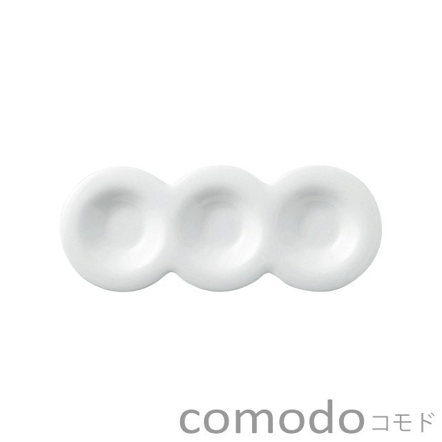 丸く優しいフォルムがゆったりとしたくつろぎのテーブルを演出 食器 おしゃれ 小皿 comodo 日本製 コモド TソーサーS 送料無料限定セール中 白い食器 全品送料無料