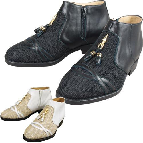 メンズアップシューズ・タッセルサマーブーツ【5cmアップ メッシュ シューズ 靴 メンズ 4E】【送料無料】【父の日 敬老の日 ギフト クリスマス】