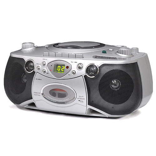 カラオケDVDラジカセ(マイク2本付き) 【カラオケ 家庭用 CD カセットテープ ラジオ SD USB VS-M004】【送料無料】