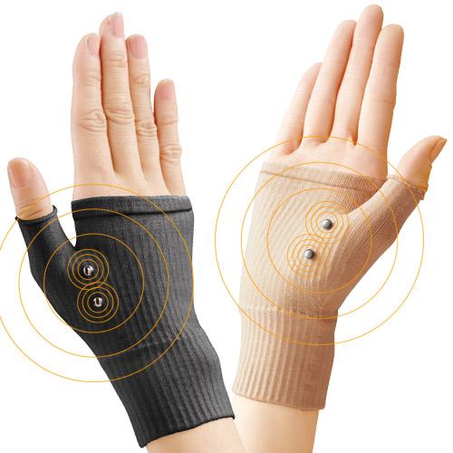 腱鞘サポーター 着圧磁気ら~く(4枚組) 【手首 サポーター 腱鞘炎】