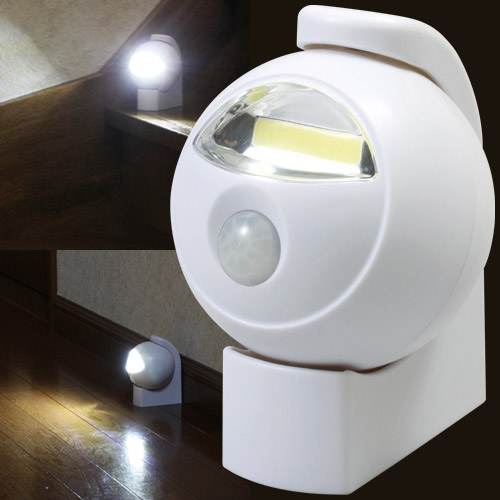 COBセンサーライト(2個組) 【COB ライト 足元 防犯 懐中電灯】