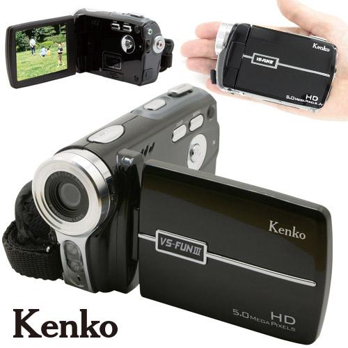 ケンコー デジタルムービーカメラIII 【SDカード 乾電池対応 ビデオカメラ VS-FUN】【プレゼント ギフト】【送料無料】
