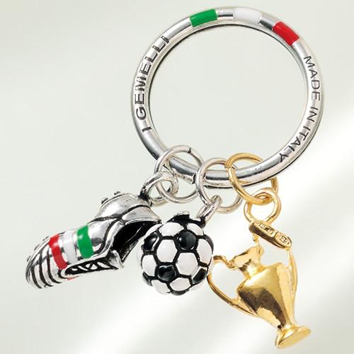 イタリア製サッカーモチーフキーリング【キーホルダー】【送料無料】