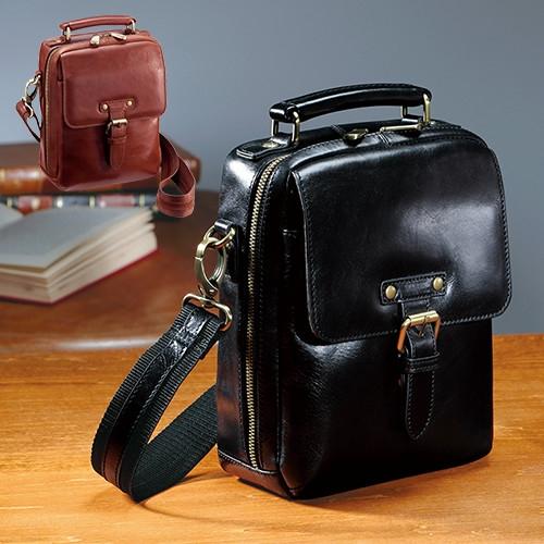 イタリアンレザー リポーターズバッグ【牛革 本革 ショルダーバッグ 鞄 メンズ】【送料無料】