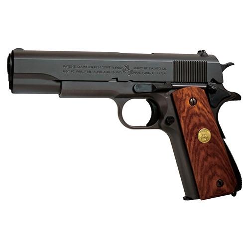 コルトガバメントM1911Aカスタムエアガンセット(木製実銃グリップ仕様) 【送料無料】