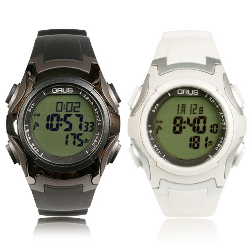 GRUSウォーキング電波ウォッチ【歩数計 万歩計 電波 腕時計 メンズ レディース GRS005】