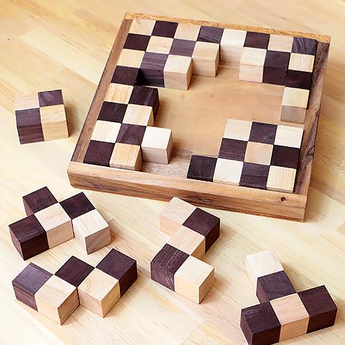 ペントミノ・ウッドパズル 【天然 木製 パズル 】