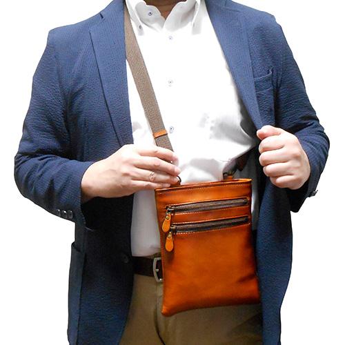 ソフト和牛革アンティークカラーバッグ