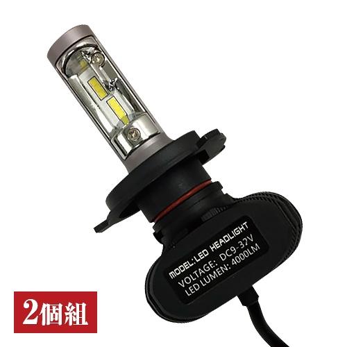 自動車用LEDヘッドライト(2個組)【K-PARTS LEDヘッドライトバルブ H4 KL-1000】