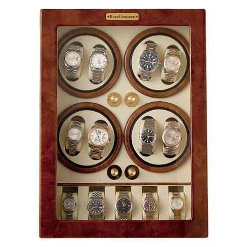 ロイヤルハウゼン·ワインディングマシン(8本巻き5本収納)【送料無料 収納ケース 自動巻き 時計 保管 ワインダー マブチモーター製 高級腕時計】