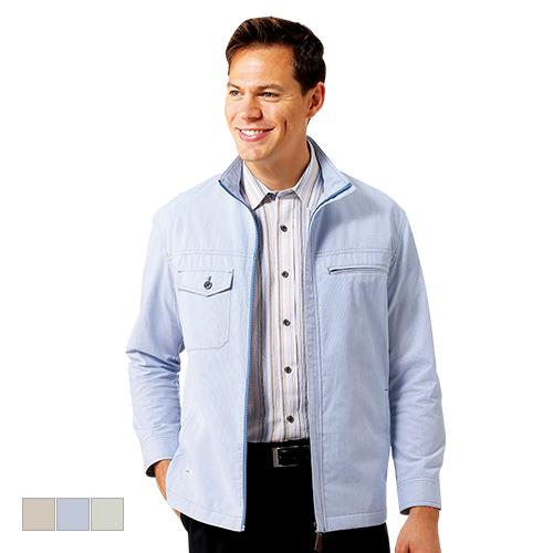 トロイ・ブロス 麻入りストライプジャケット【アウター 長袖 清涼素材 夏物 6ポケット メンズ ファッション】