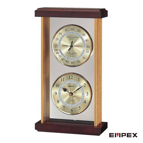 ハイグレードなクリスタル調シリーズ 大人気! スーパーEX温 湿度 時計 スーパーEX温 日本製 新品未使用正規品 empex EX-742 エンペックス
