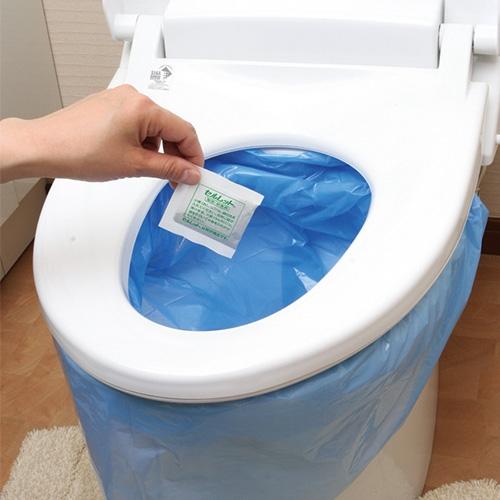 セルレット(72回分)【携帯 介護 災害 簡易 凝固剤 アウトドア 断水】