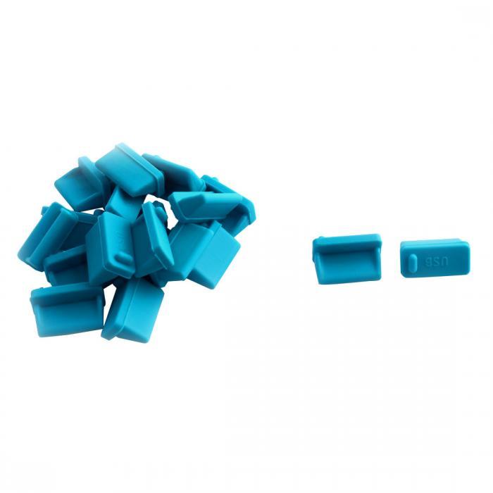 激安特価品 着後レビューで80円OFFクーポンをプレゼント uxcell USBポートダストプラグ ポリエチレン製ブルー 5☆大好評 保護キャップ 保護カバー 20個入り