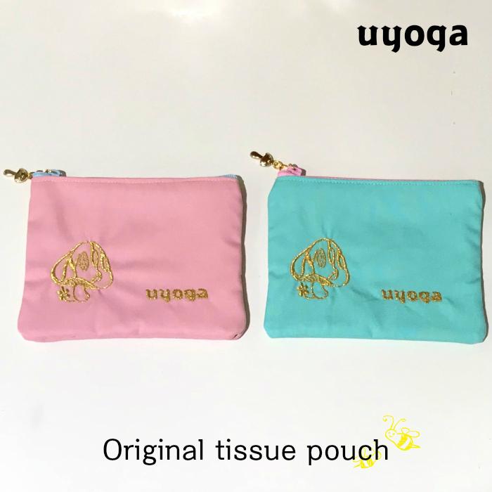 きのこ 雑貨 uyoga 安心の実績 高価 買取 強化中 ウヨガ オリジナル ティッシュポーチ ティッシュケース ポーチ ポケットティッシュ バッグインバッグ 刺繍 本物 マスクケース シンプル ブランドロゴ 大人 かわいい